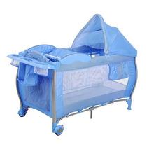 Berço Standart Blue Check Ixbe5059azc12 - Burigotto