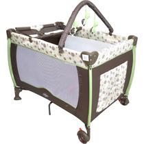 Berço Cercado Desmontavel C/ Trocador Baby Style Plus Bolinh