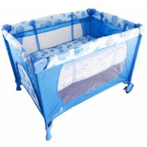 Berço Eco Azul Cercado Portatil Desmontavel Chiqueirinho