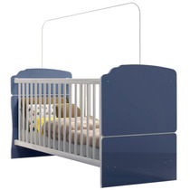 Berço Mini Cama Ninar Azul Completa Móveis