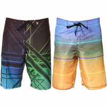 Kit Bermuda Shorts Tactel 100 Unid Surf Praia Pronta Entrega