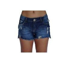 Bermuda Shorts Destroyed Jeans Rasgado Denuncia