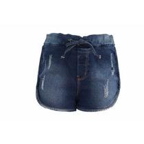 Bermuda Shorts Jeans Com Aplicação Denuncia