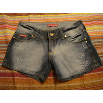 Cia Fashion Short Bermuda Jeans Tam. 44 Flor Paetes