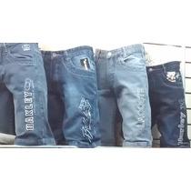 Kit C 10 Bermudas Jeans Várias Marcas