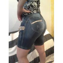 Shorts Feminino Pit Bull Pitbull Azul Jeans !!