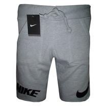 Bermuda Moletom Nike Cinza Nks