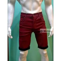 Bermuda Jeans Masculina Com Lycra