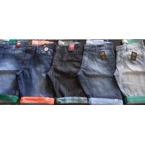 Kit C/ 6 Bermudas Jeans Infantil Hollister, Quiksilver