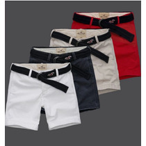 Bermuda Cargo Abercrombie Fitch +cinto Hollister Polo Ralph