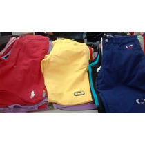 Kit C/ 5 Bermudas Jeans Colorida Lacoste Hollister Oakley