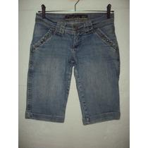 Shorts Bermuda Feminina Opchin Jeans Tamanho 40