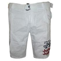 Bermuda Jeans John Branca Jj027 Frete Grátis
