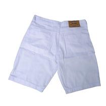 Bermuda Jeans Masculina Branca Caimento Perfeito