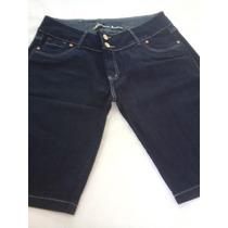 Bermuda Jeans Feminina Tam Plus Size