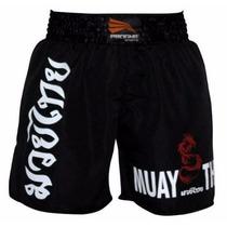 Short Bermuda Muay Thai Masculino Preto Progne