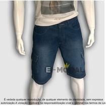 Bermuda Jeans Masculina Cargo Tam 36 Ao 62 Até Plus Size Xxl