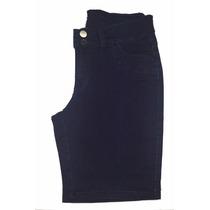 Bermuda Ciclista Jeans Feminina C/ Elastano Plus Size