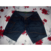Bermuda Jeans Feminina Tam. 44 C/ Strech Semi Nova Cricri