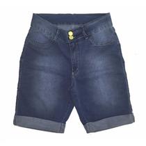 Promoção Bermuda Feminina Jeans Plus Size Elastano Defeitos
