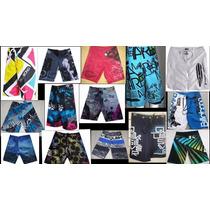 Kit 5 Shorts Tactel Maculino Barato Surf Praia+ Brinde
