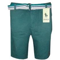 Bermuda Jeans Ralph Lauren Verde Musgo Lisa C/cinto
