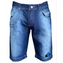 Bermuda Jeans Masculina Quiksilver Jeans Mesclado