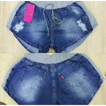Lindas Shorts, Jeans Com Moleton
