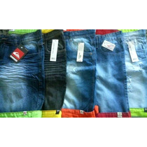 Kit C/ 5 Bermudas Jeans Lacoste Hollister Billabong