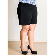 Bermuda Feminina Social Com Strech Plus Size Frete Gratis