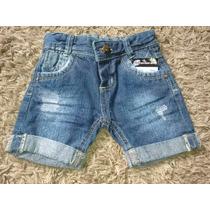 Bermuda Jeans Infantil Masculino - Menino