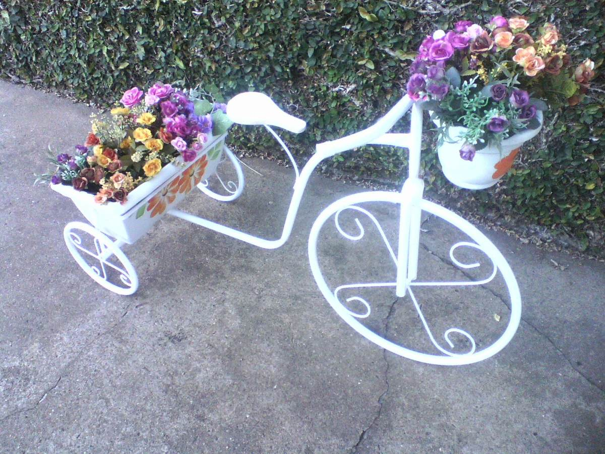 decoracao para jardins mercado livre:Bicicleta Jardineira Para Plantas, Jardim, Decoração,vasos – R$ 149