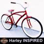 Bicicleta Retrô Com Paralamas - Beach Bike Caiçara Harley