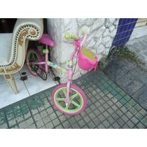 Bicicleta Barbie Rosa Infantil
