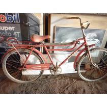 Bicicleta Antiga Caloi Barra Forte Com Assento Da Namorada