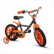 Bicicleta Infantil Masculina Nathor Aro 14 First Pro Preto