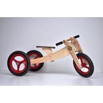 Triciclo Infantil De Madeira Bicicleta De Equilibrio 3 Em 1