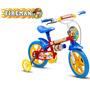 Bicicleta Infantil Aro 12 Fireman Bike Nathor Frete Grátis