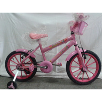 Bicicleta Barbie Nova Aro 16