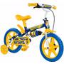 Bicicleta Aro 12 Masculina Infantil Shark Azul Nathor
