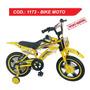 Bike Moto Infantil Aro 16 Bicicleta Freio Disco Unissex C103