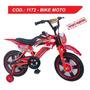 Bike Moto Infantil Aro 16 Bicicleta Freio Disco Unissex C055