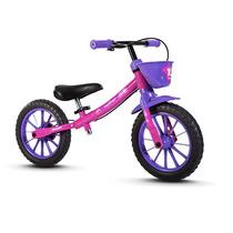 Bicicleta Aro 12 Infantil Equilibrio Nathor Sem Pedal Rosa