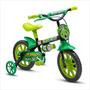 Bicicleta Infantil Aro 12 Masculina Nathor Black 12 Vermelha