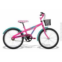 Bicicleta Feminina Caloi Aro 20 Barbie Bike Rosa Fucsia
