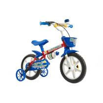 Bicicleta Kit Kat Azul Aro 12 Masculina Com Acessórios -...