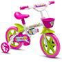 Bicicleta Aro 12 Infantil Tipo Princesas Nathor Honey Rosa