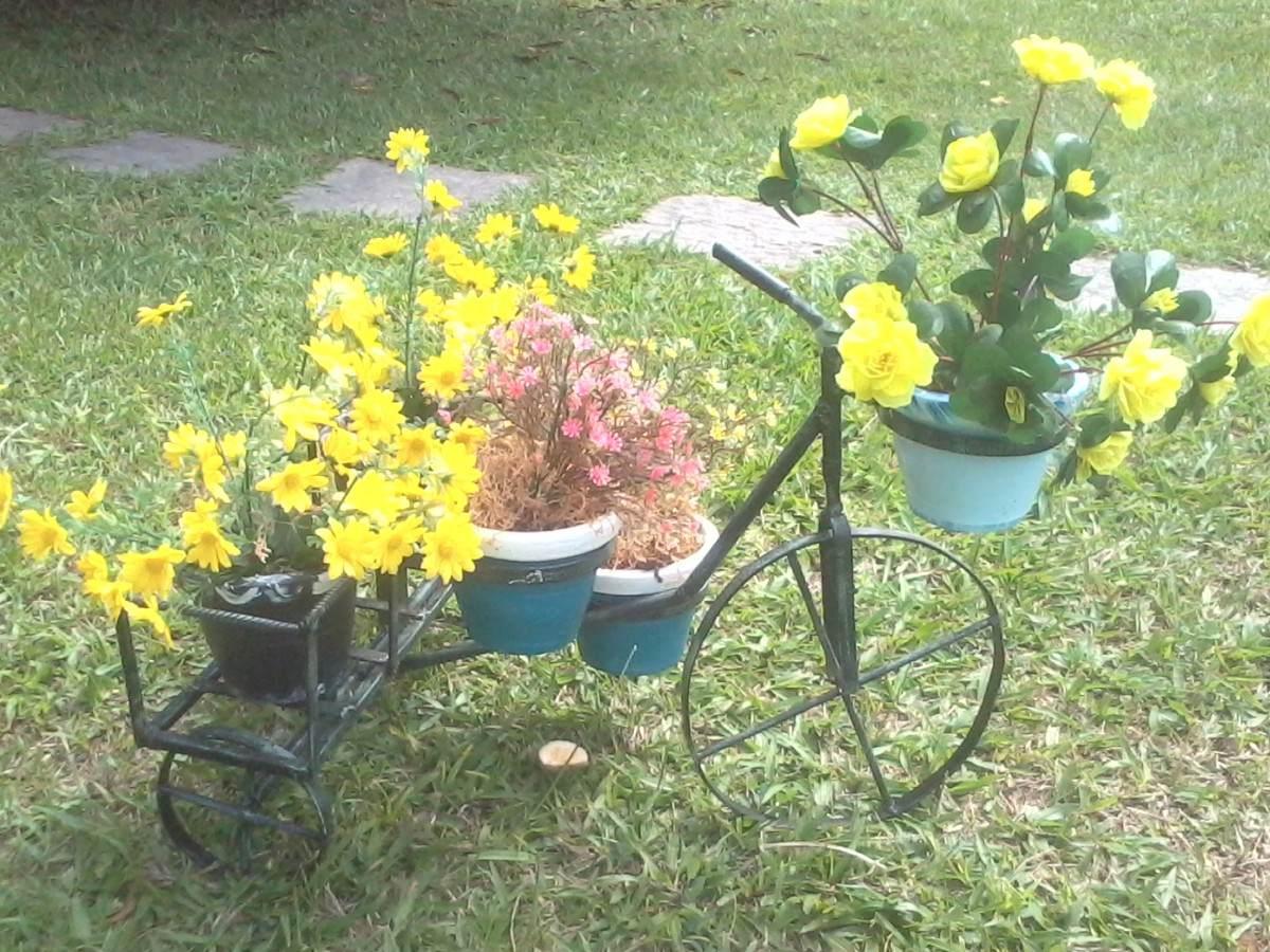 Enfeite De Jardin ~ Bicicletinha De Ferro Para Enfeite De Jardim R$ 74,99 no MercadoLivre