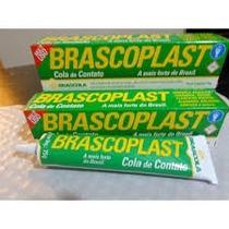 10 Tubos De Cola De Contato Brascoplast Com 75 Gr. Cada