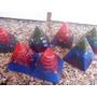 Lote Com 20 Orgonites Pirâmide - Altura 6 Cm